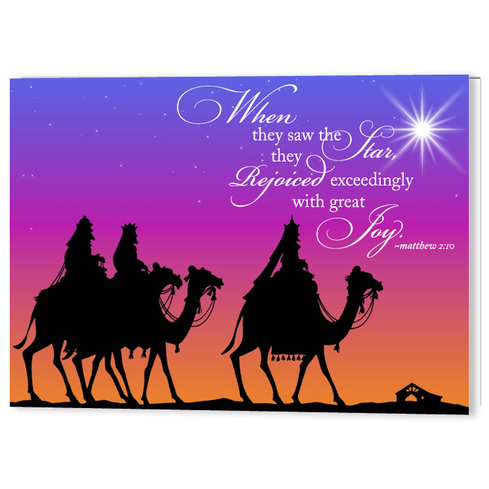 Three Wise Men Christmas Holiday Card