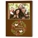 Wreath with Birds 5x7 Holiday Christmas Card