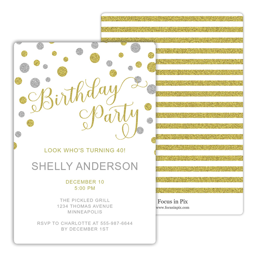Bubbly Birthday Party Invitation from Focus in Pix