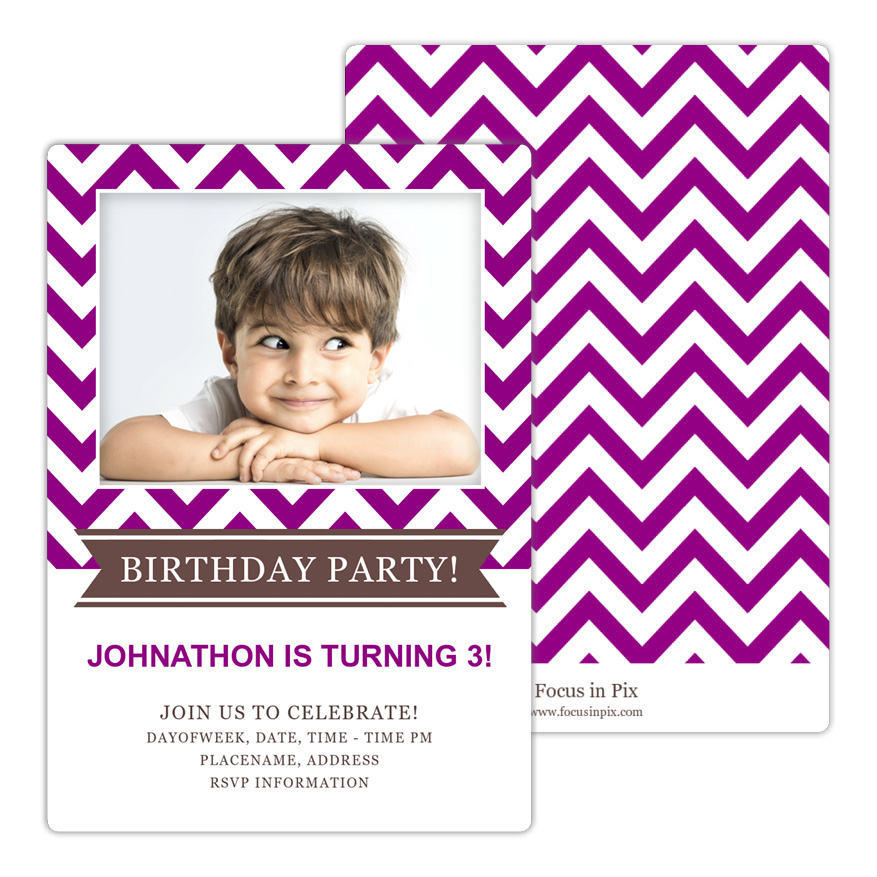 Classic Chevron Birthday Party Invitation