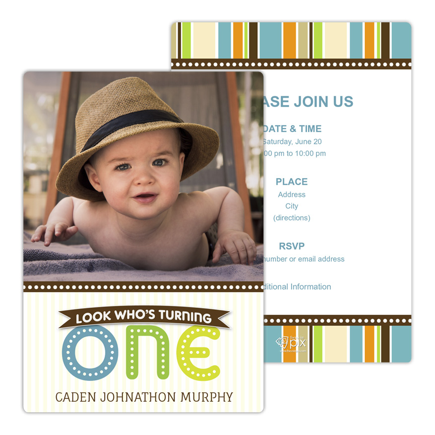 ONE in Lights Birthday Party Invitation