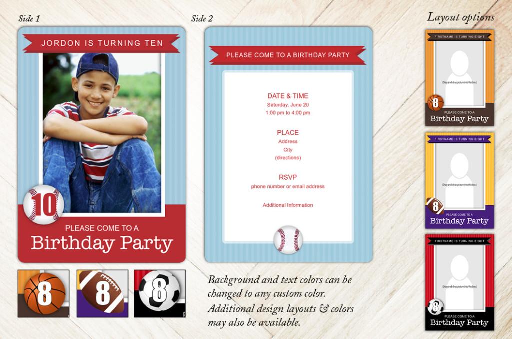 Sports Birthday Party Invitation