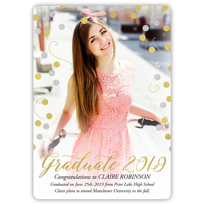 Silver and Gold - Focus in Pix Graduation Card