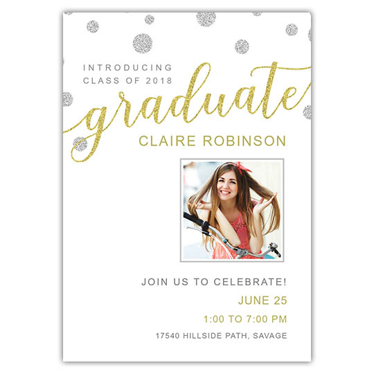 Bubbly Script - Graduation Invite and Announcement