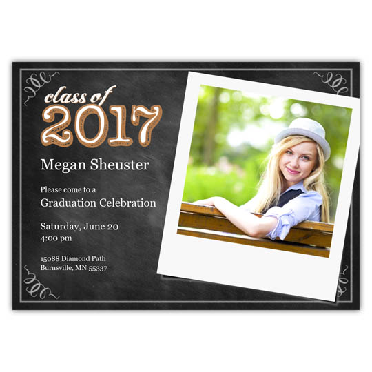 Chalkboard Snaps - Focus in Pix Graduation Card