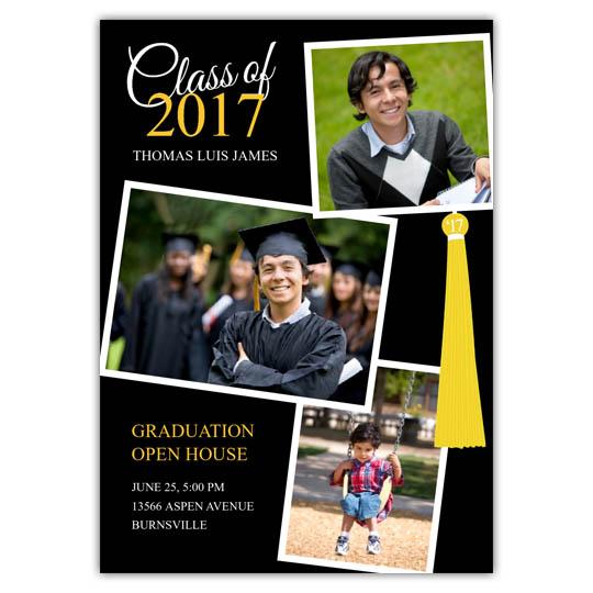 Tassle Collage - Focus in Pix Graduation Card