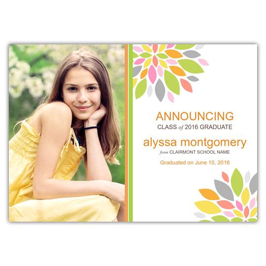 Colorful Peony - Focus in Pix Graduation Card