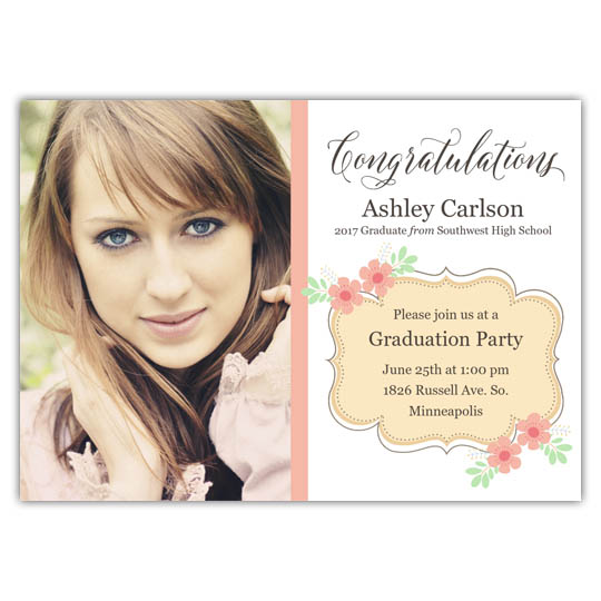 Flower Party - Focus in Pix Graduation Card