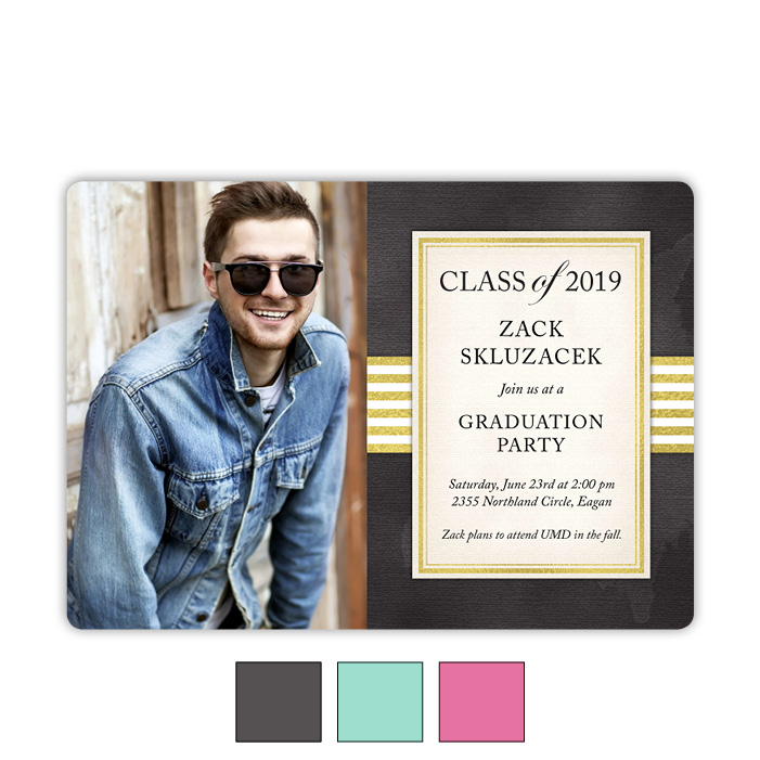 Foil Accents - Focus in Pix Graduation Card