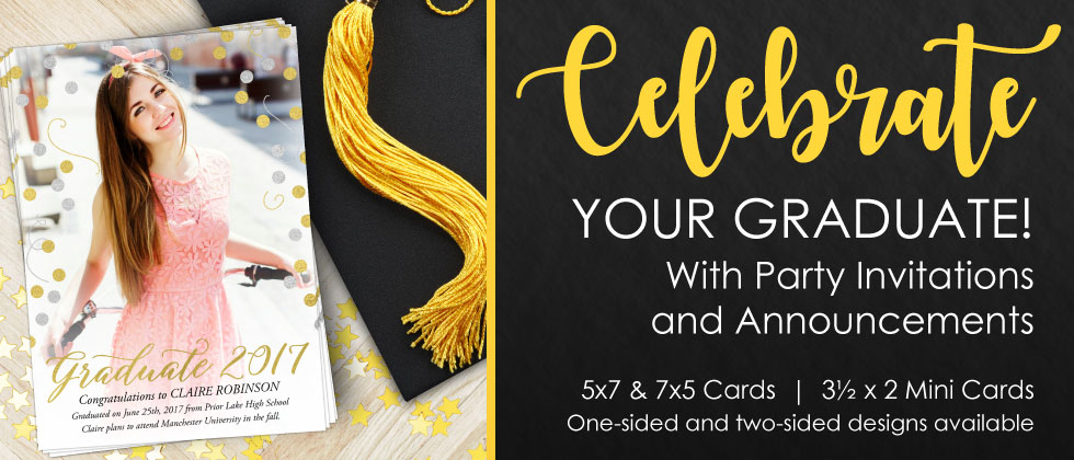 Focus in Pix Graduation Announcements and Party Invitations