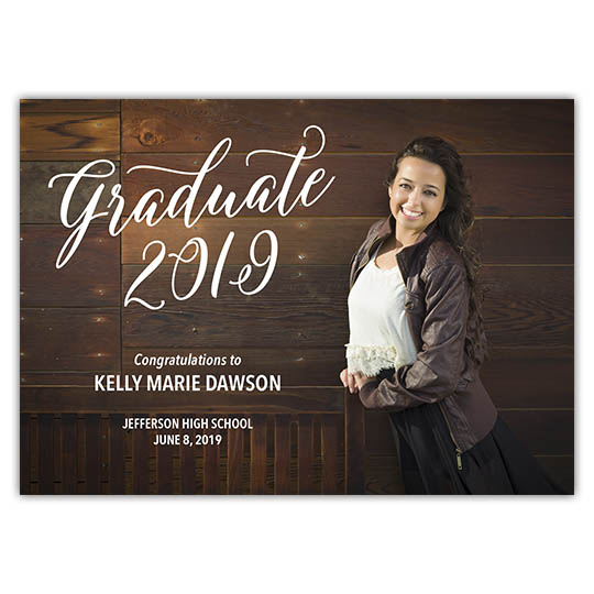 Scripted Graduate - Graduation Invite and Announcement