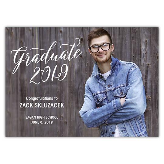 Scripted Graduate - Graduation Invite and Announcement