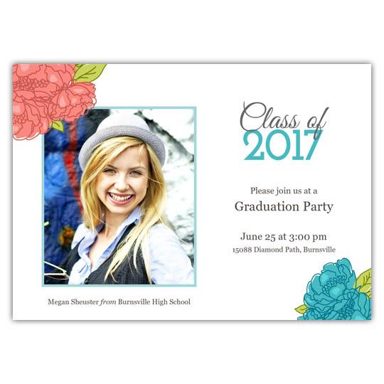 Spring Flowers - Focus in Pix Graduation Card