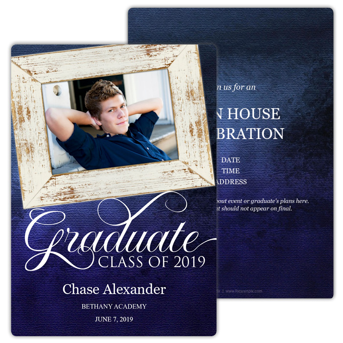 Vintage Frames - Focus in Pix Graduation Card