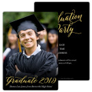 Golden Graduate, Focus in Pix Graduation Party Invitation or Announcement