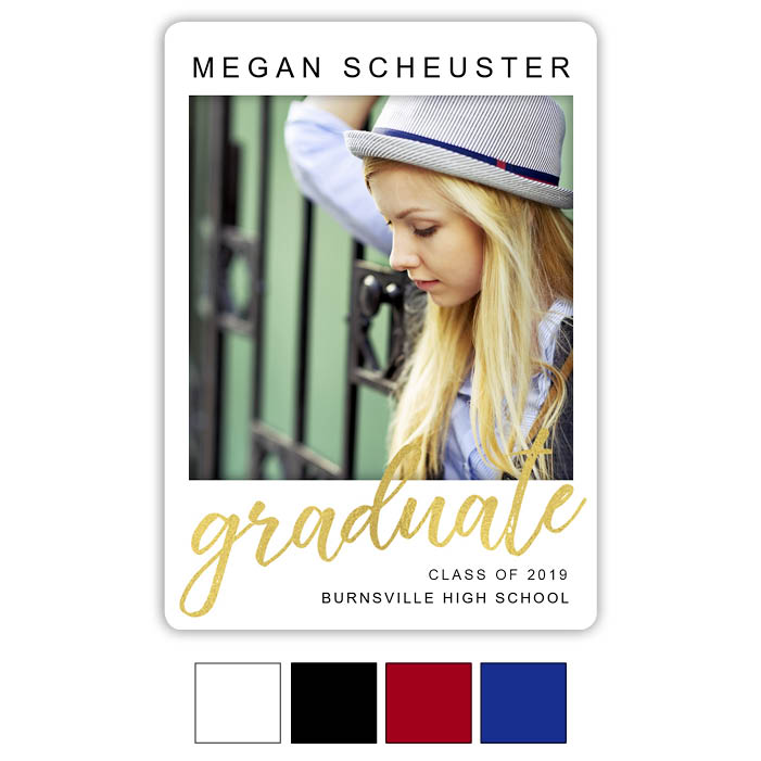 Graduate Grid, Focus in Pix Graduation Party Invitation or Announcement