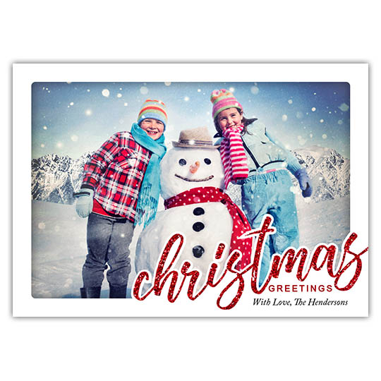 Christmas Script Focus in Pix Holiday Christmas Card