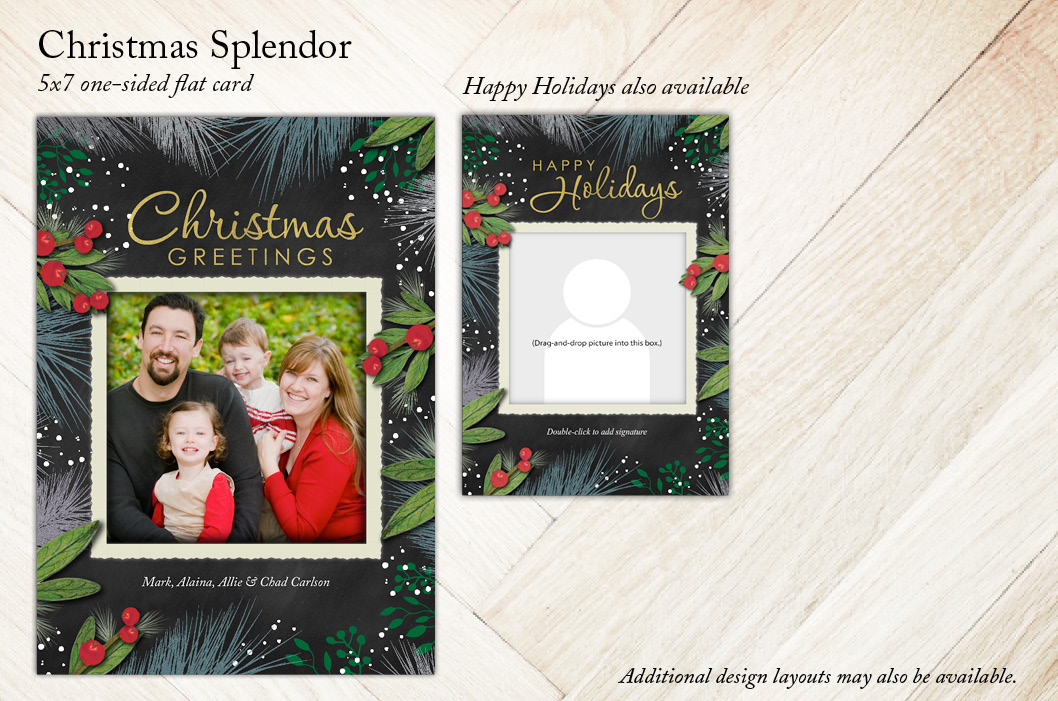 Christmas Splendor Holiday Christmas Card