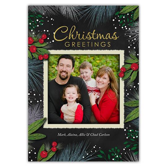 Christmas Splendor Holiday Christmas Card