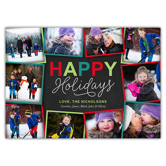 Holiday Collage Holiday Christmas Card