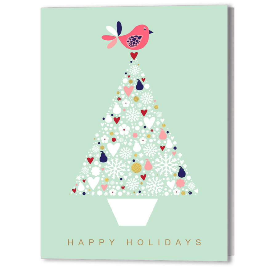 Partridge Tree Holiday Christmas Card