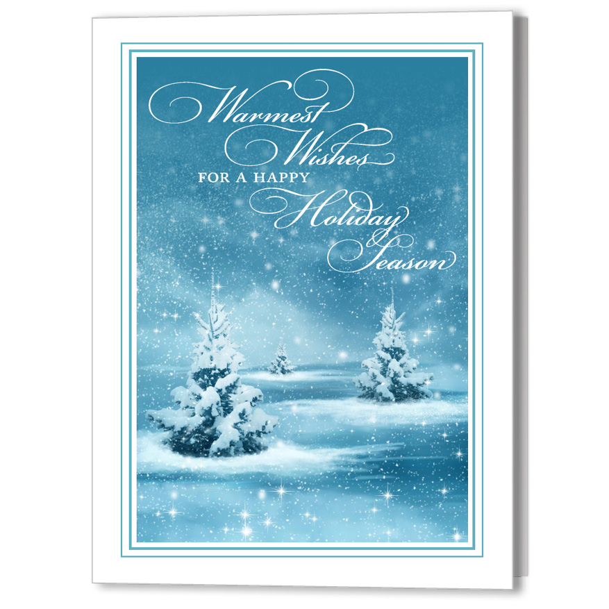 Winter Wonderland Focus in Pix Holiday Christmas Card