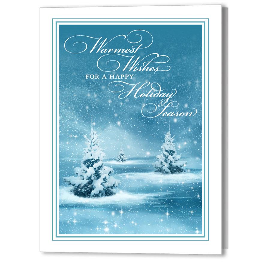 Winter Wonderland Focus in Pix Holiday Christmas Card