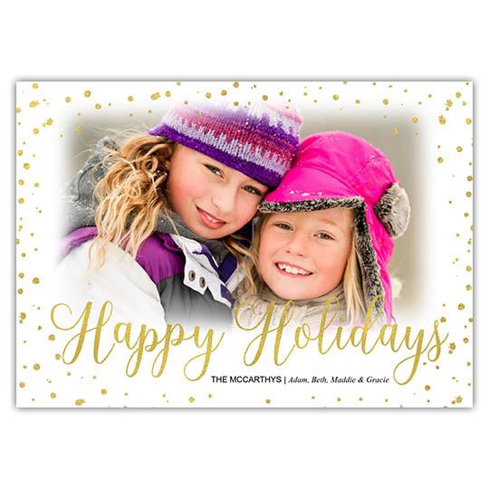 Snowflake Vignette Holiday Christmas Card