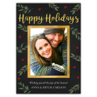 Festive Foliage Holiday Christmas Card