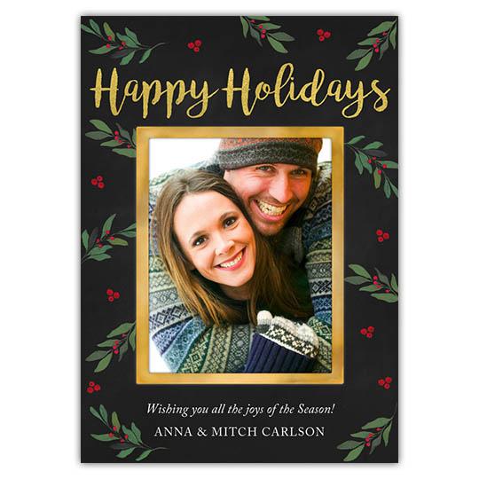 Festive Foliage Holiday Christmas Card