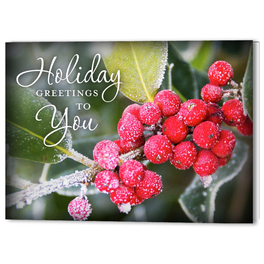 Holiday Berries Holiday Christmas Card