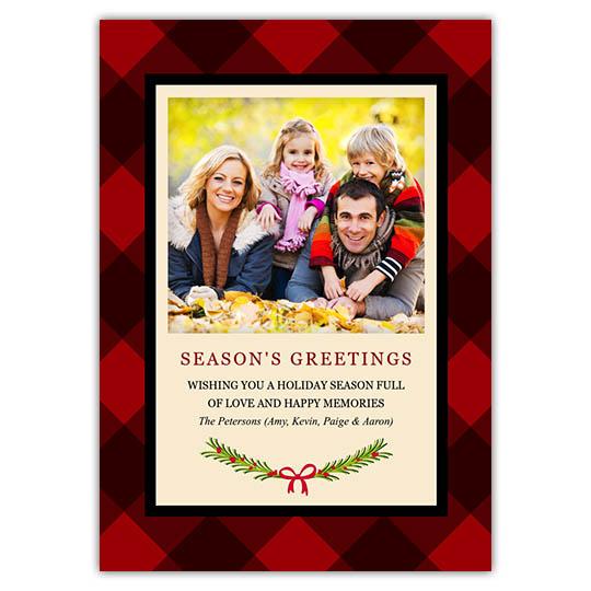 Plaid Greetings Holiday Christmas Card