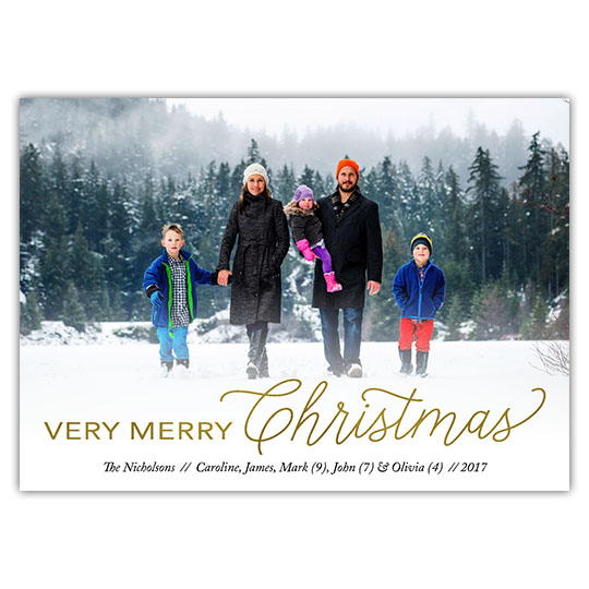 Very Merry Holiday Christmas Card