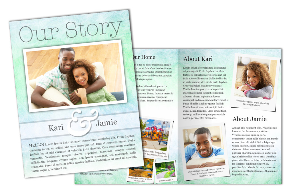 Adoption Profile 4 Page Brochure Letter, Half Fold