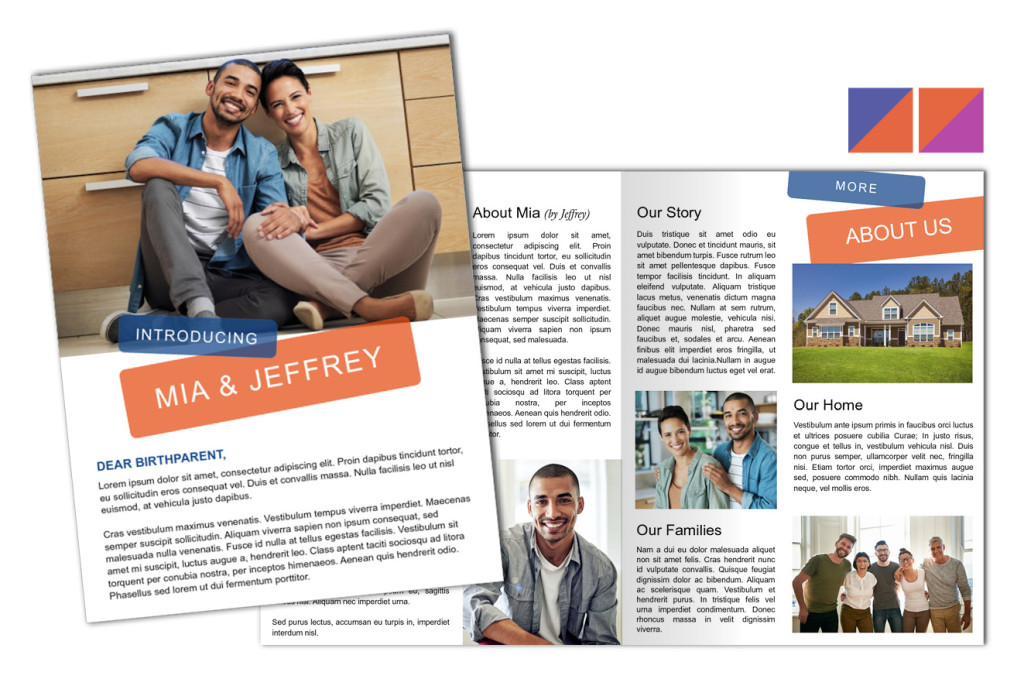 Modern Tabs: Adoption Profile 4 Page Brochure Letter, Half Fold