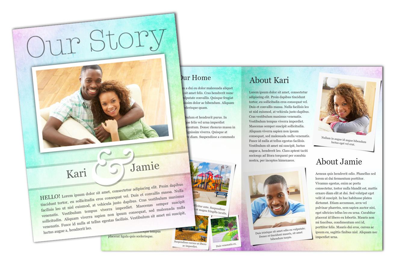 create an adoption profile book