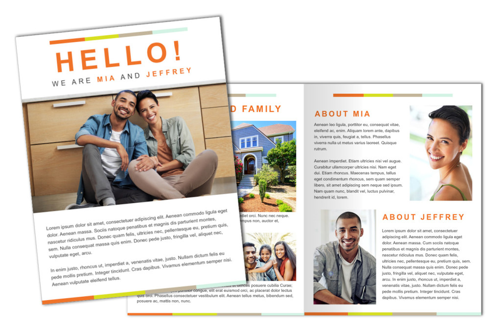 Simplicity Refined: Adoption Profile 4 Page Brochure Letter, Half Fold