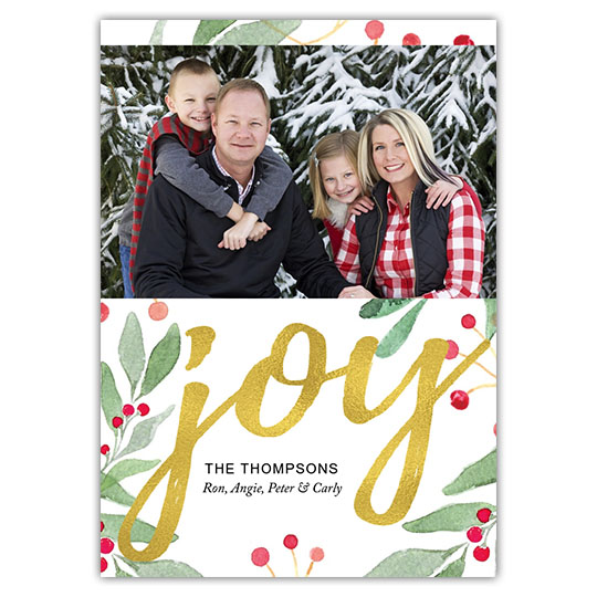 Leaves of Joy Holiday Christmas Card
