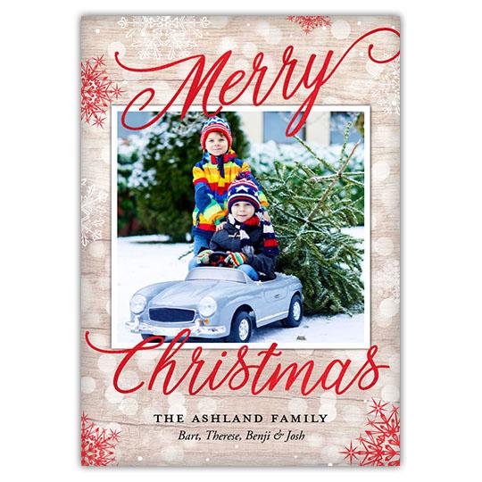 Textured Bokeh Holiday Christmas Card