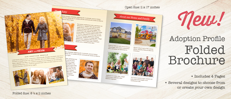 New! Focus in Pix Half Fold Adoption Letter Brochure