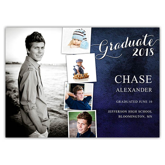 Distressed Blue - Focus in Pix Graduation Card