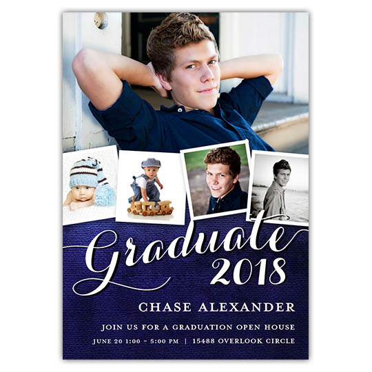 Distressed Blue - Focus in Pix Graduation Card
