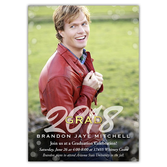 Gleaming Grad - Focus in Pix Graduation Party Invitation or Announcement
