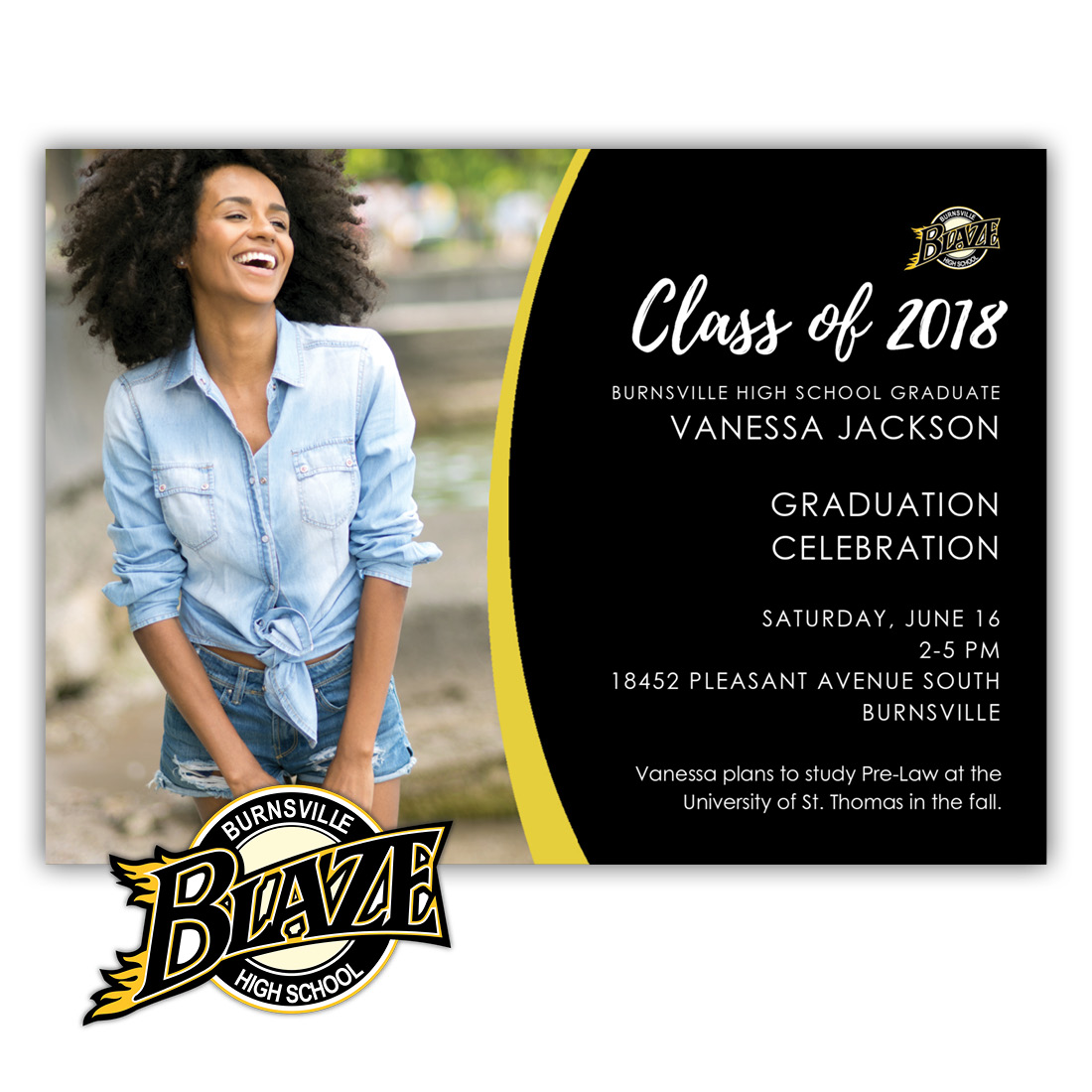 School Spirit, Burnsville - Focus in Pix Graduation Party Invitation or Announcement