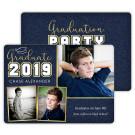 Scripted Cap - Focus in Pix Graduation Party Invitation or Announcement