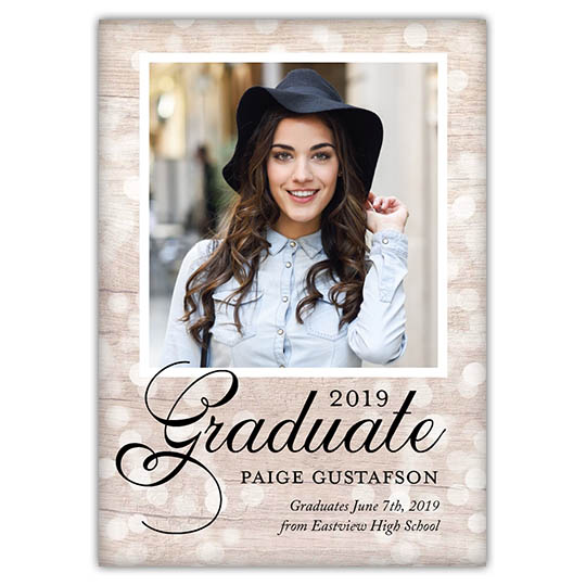 Textured Bokeh - Focus in Pix Graduation Party Invitation or Announcement