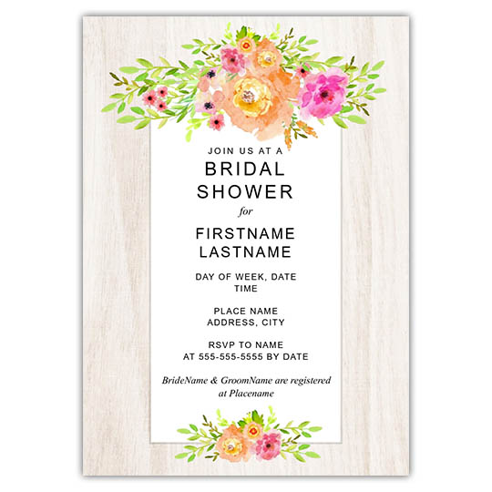 Focus in Pix customizable bridal shower invitation