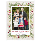 Branches and Berries 5x7 Holiday Christmas Card