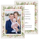 Branches and Berries 5x7 2 Sided Holiday Christmas Card
