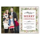 Branches and Berries 7x5 Holiday Christmas Card